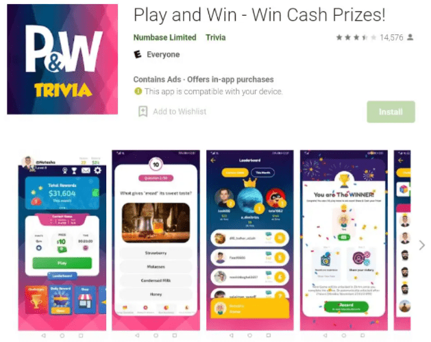 Play and Win – Win Cash Prizes!
